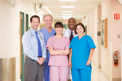 Hospital Team Standing In A Corridor